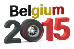 F1 Formula 1 Belgium Grand Prix in Spa-Francorchamps 2015 concep. F1 Formula 1 Belgium Grand Prix in Spa-Francorchamps 2015 royalty free illustration