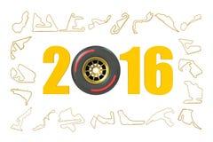 F1 Formula 1 Grand Prix  2016 concept Stock Photos