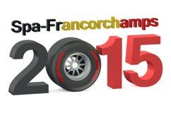 F1 Formula 1 Grand Prix in Spa-Francorchamps 2015 Belgium conce. F1 Formula 1 Grand Prix in Spa-Francorchamps 2015 Belgium vector illustration