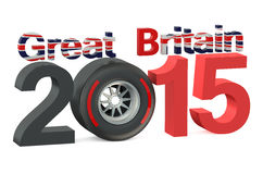 F1 Formula 1 Great Britain Grand Prix in Silverstone 2015 concep. F1 Formula 1 Great Britain Grand Prix in Silverstone 2015 vector illustration