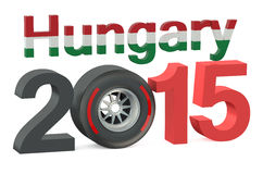 F1 Formula 1 Hungary Grand Prix in Hungaroring 2015 concept. F1 Formula 1 Hungary Grand Prix in Hungaroring 2015 stock illustration