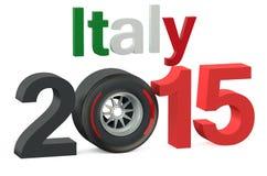 F1 Formula 1 Italy Grand Prix in Monza 2015. Concept stock illustration