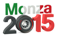 F1 Formula 1 Italy Grand Prix in Monza 2015. Concept vector illustration