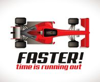 F1 - Formula one competition - racing car as running time royalty free illustration