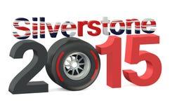 F1 Formula 1 Silverstone 2015 concept stock illustration