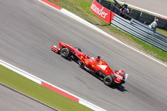F1 Foto - Auto Ferrari der Formel-1: Fernando Alonso Stockbilder