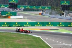 F1 foto - coche de Ferrari del Fórmula 1: Fernando Alonso Fotografía de archivo