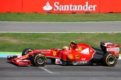 F1 fotografia - formuła jeden Ferrari samochód: Kimi Raikkonen Obraz Royalty Free
