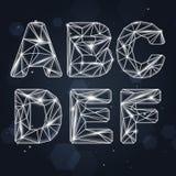 A-F géométrique de police de constellation Images libres de droits