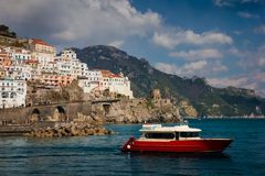 1 f?gelflyg s Amalfi Campania italy royaltyfria foton