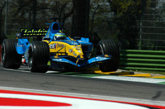 F1 2005 - Giancarlo Fisichella. Renault during GP of Imola Year 2005 Stock Image