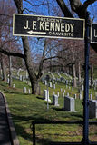 f gravesite John Kennedy 图库摄影