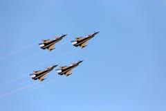 F-16 Gripen和8月1日特技队飞行员 图库摄影
