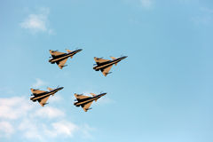 F16 Gripen and August 1st Aerobatic team pilots Stock Photography