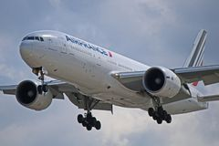 F-GSPD: Air France Boeing 777-300ER a YYZ Immagine Stock Libera da Diritti