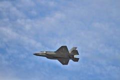 F-35 heimelijkheidsvechter bij airshow Royalty-vrije Stock Fotografie