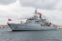 F-243 het fregat van TCG Yildirim Royalty-vrije Stock Foto