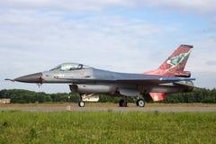 F-16 holandés de la fuerza aérea Fotografía de archivo libre de regalías