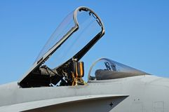 F-18 hornet fighter plane canopy stock image