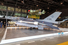 F16 i nationellt militärt museum Royaltyfri Fotografi