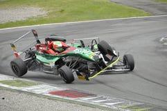 F2 Italian Trophy crash (Marco Zanasi) Stock Photography