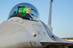 F-16 jastrząbka kokpit Zdjęcie Royalty Free