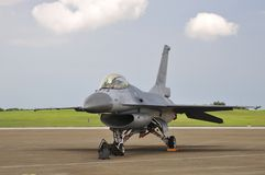 The F16 jet fighter on display. Royalty Free Stock Photography