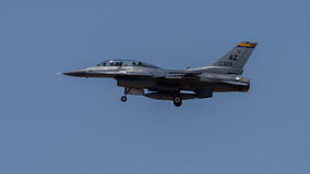 F16. Jet on landing approach to Davis Monthan Air Force Base Stock Photos
