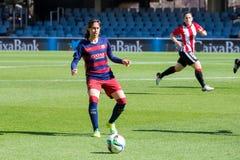 f Jogo da equipa de futebol do ` s das mulheres de C Barcelona contra o clube atlético de Bilbao Fotos de Stock Royalty Free