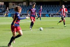 f Jogo da equipa de futebol do ` s das mulheres de C Barcelona contra o clube atlético de Bilbao Imagens de Stock