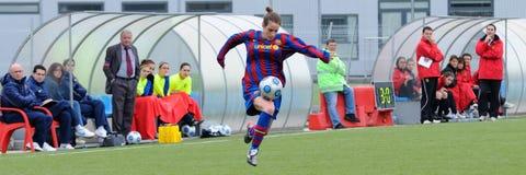 f Juego del equipo de fútbol de las mujeres de C Barcelona contra Gimnastic de Tarragona Foto de archivo