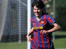 f Juego del equipo de fútbol de las mujeres de C Barcelona contra Real Sociedad Fotos de archivo