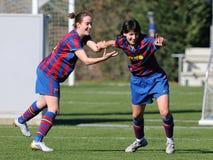 f Juego del equipo de fútbol de las mujeres de C Barcelona contra Real Sociedad Foto de archivo