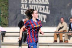 f Juego del equipo de fútbol de las mujeres de C Barcelona contra Real Sociedad Foto de archivo libre de regalías