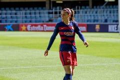f Juego del equipo de fútbol del ` s de las mujeres de C Barcelona contra el club atlético de Bilbao Imagen de archivo