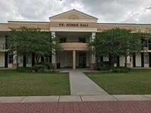 F K Norris Hall in Charleston Southern University, Zuid-Carolina stock fotografie