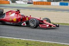 F1: Kimi Raikkonen Ferrari Arkivbilder