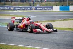 F1: Kimi Raikkonen Ferrari Arkivfoto