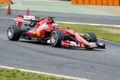 F1: Kimi Raikkonen Ferrari Arkivfoton