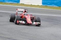 F1: Kimi Raikkonen Ferrari Royaltyfri Bild
