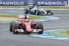 F1: Kimi Raikkonen Ferrari Arkivbild