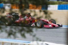 F1: Kimi Raikkonen Ferrari Royaltyfria Foton