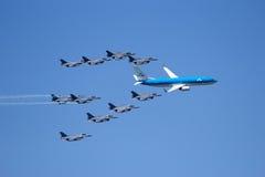 F-16 KLM Boeing Στοκ εικόνα με δικαίωμα ελεύθερης χρήσης