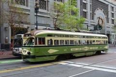 F-línea tranvía antiguo, San Francisco, los E.E.U.U. fotos de archivo
