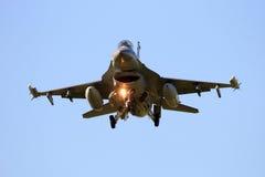 F-16 landing Stock Image