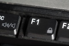 The F1 laptop button Royalty Free Stock Image