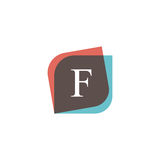 F letter icon retro logo design. Vintage company sign vector des Royalty Free Stock Photos