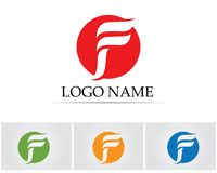 F letter logo and symbols template vector icons.  Royalty Free Stock Photos