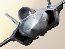 F35-A lightning closeup Royalty Free Stock Photo