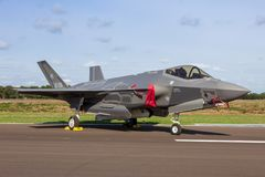 F-35 Lightning fighter jet aircraft royalty free stock photography